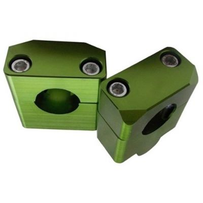 Adaptador Alongador (Suporte) De Guidao Fat Bar 28mm - Altura 20mm Verde Bering