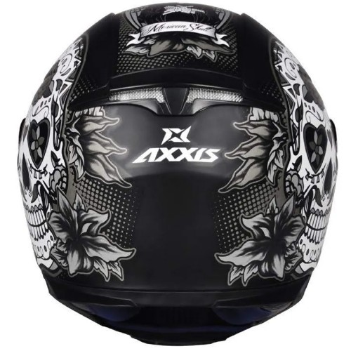Capacete Axxis Eagle Skull Caveira Tras