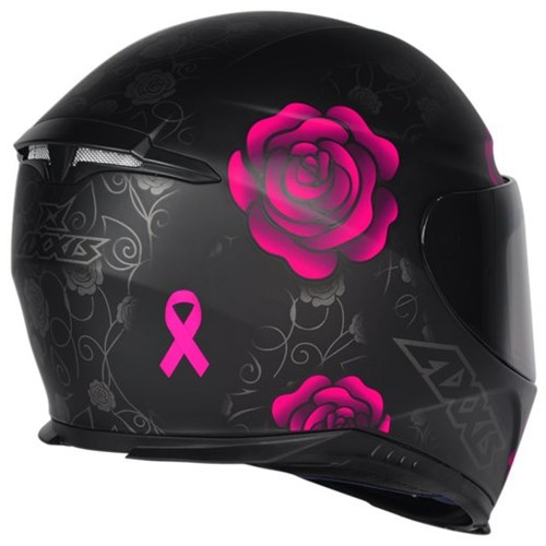 Capacete Axxis Feminino Eagle Flowers Rosa
