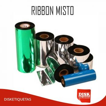 Ribbon Misto 110mm X 91m Preto