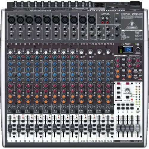 Mesa de Som Behringer Mixer Xenyx X2442USB 24 Entradas 4/2 Bus Mixer Interface USB