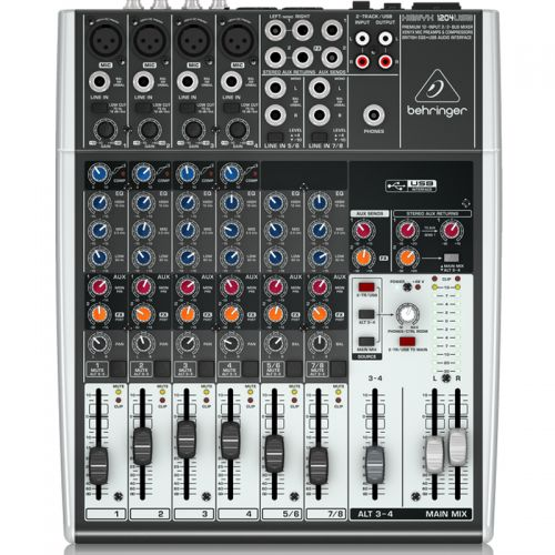 Mesa de Som Xenyx 1204USB Mixer Behringer com Interface