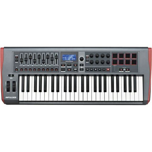 Teclado Controlador Novation Impulse 49 USB MIDI Teclas Semi Pesadas