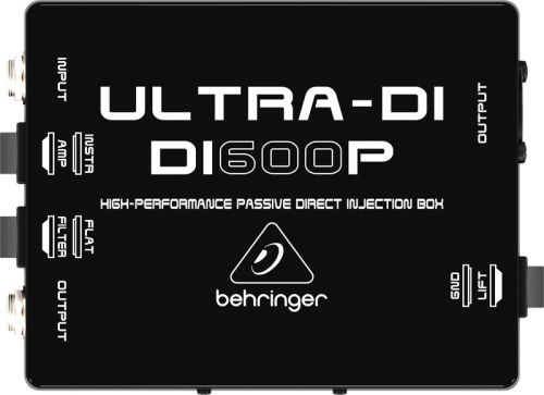 Direct Box Passivo Behringer DI600P Ultra-DI 1 Canal Alta Performace