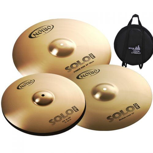 Set de Pratos Orion Solo Pro 14 16 20 com Bag PR70 Bronze B8
