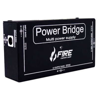 Fonte Para Pedal Power Bridge Preta 9V - Fire Custom Shop  - foto principal 1