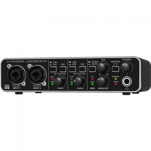 Interface de Áudio U-Phoria UMC204HD USB 2 Canais - Behringer