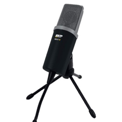 Microfone Para Karaoke e chat no PC Podcast-100 - SKP