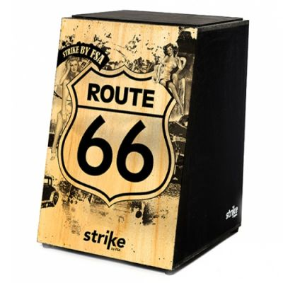 Cajon FSA Acústico SK4010 Route 66 Strike Series Natural Retrô Vintage
