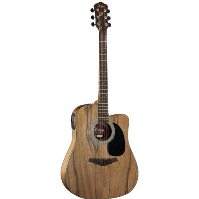Violão Folk Cutway Satin Natural Ativo HMF270 - Hofma By Eagle