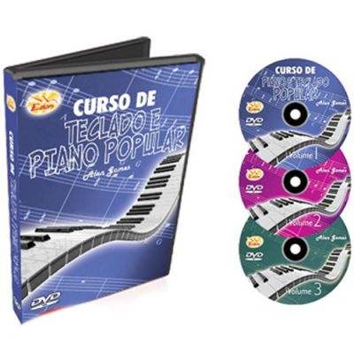 Curso de Teclado e Piano Popular Edon 3 Volumes