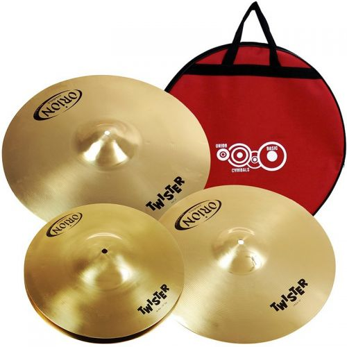 Set de Pratos Orion Twister 14 16 20 com Bag Ideal para Iniciantes
