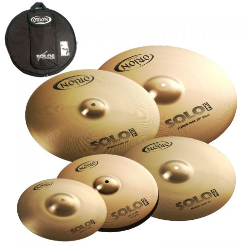 Set de Pratos Orion Solo Pro 12 14 16 18 20 com Bag SP102 Bronze B10