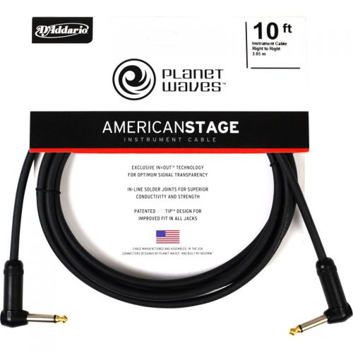Cabo para Guitarra Planet Waves 3,05m Americ Stage PW-AMSGRR-10 P10L