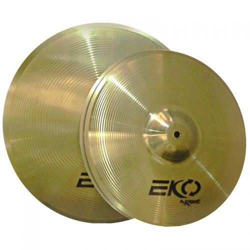 Set de Pratos Krest Hi Hat 14 e Crash 16 Eko Series