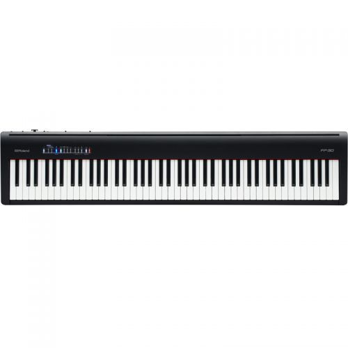 Piano Digital Roland FP30 Preto 88 Teclas SuperNATURAL