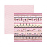 - Papel Scrapbook Paris Barrinhas -13774  TEC