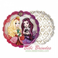 - Prato Ever After High 18cm - Pct c/ 8 Unidades - Cod.102748.4 - Regina