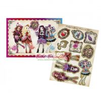 - Kit Decorativo Ever After High - 1 Painel de 64 cm x 45 cm e 10 Enfeites - Cod. 102747.6 Regina