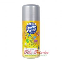 Tinta Prata Decor Paint Artística 150 ml Spray - 1 Unidade - Acrilex