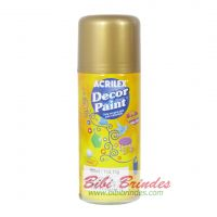 Tinta Dourada Decor Paint Artística 150 ml Spray - 1 Unidade - Acrilex