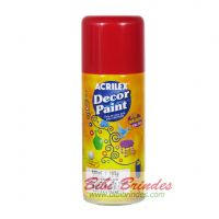 Tinta Vermelha Decor Paint Artística 150 ml Spray - 1 Unidade - Acrilex