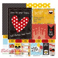 Papel Scrapbook Viagem Postcard and Tickets - 8512 OK -30cm X 30 cm - Unitário