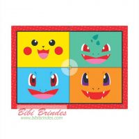 - Painel Pokemon Pocket Monsters 89cm x 1,25mt - Unitário - Junco