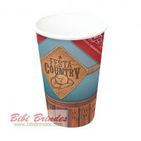 - Copo de Papel Festa Country 300ml - Pct c/ 08 Unidades - 104229 Festcolor
