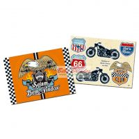 - Kit Decorativo Motor Club - 1 Painel de 62,5cm x 44,5cm e 7 Enfeites - Junco