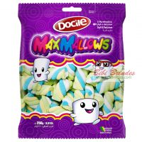 - Marshmallow Maxmallows Twist 3 Cores Torcido - Pct c/ 250g - Docile