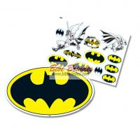 - Kit Decorativo Batman Geek - 1 Painel 64cm x 37cm e 10 Enfeites - Ref. 103344 - Festcolor