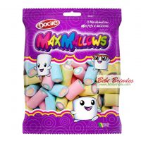 - Marshmallow Maxmallows Tubo Colorido - Pct c/ 250g - Docile