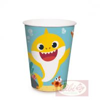 - Copo de Papel Baby Shark - 240ml - Ref: 23410195 - Cromus