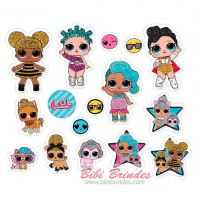- Mini Personagens Decorativos LOL Surprise - Pacote c/ 50 unid. - Ref. 113908.8 - Regina