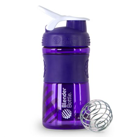 Coqueteleira Sport Mixer - Blender Bottle - Roxo / Branco - 20oz / 590ml