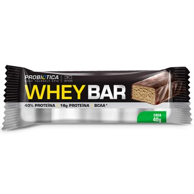 Whey Bar High Protein - 40g - Probiótica