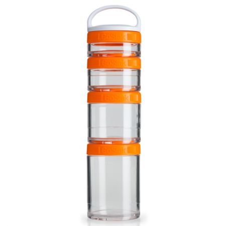 Blender GoStak Starter 4Pak - Laranja - Blender Bottle