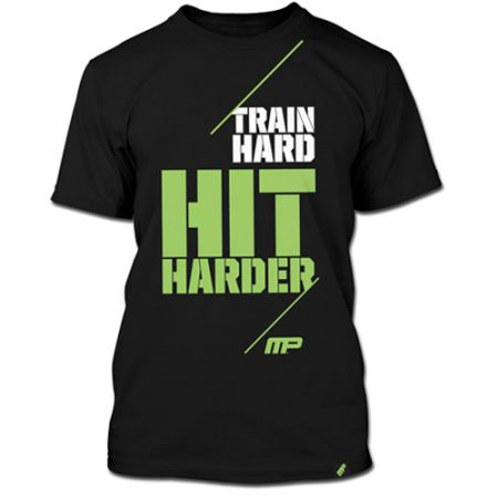 Camiseta Train Hard Hit Harder - Preta - Muscle Pharm