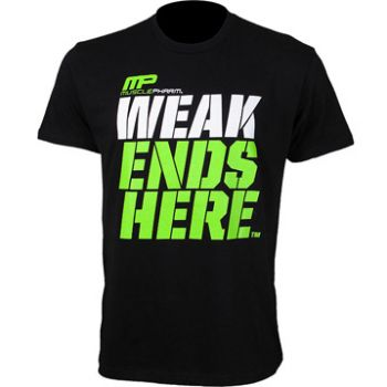 Camiseta Weak Ends Here - Preta - Muscle Pharm