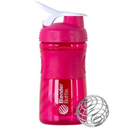 Coqueteleira Sport Mixer - Blender Bottle - Rosa / Branco - 20oz / 590ml