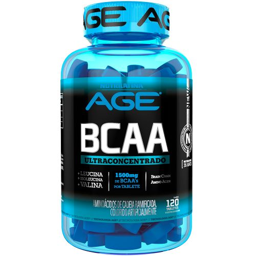 BCAA 1500mg UltraConcentrado - 120 Tabletes - Nutrilatina AGE