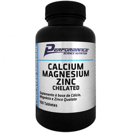 Calcium Magnesium Zinc Chelated - 100 Tabletes - Performance Nutrition