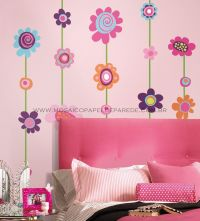 Flower Stripe Giant Wall Decals - RMK1622GM  - foto 2