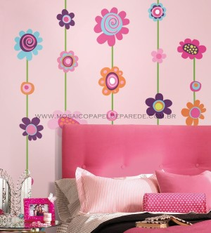 Flower Stripe Giant Wall Decals - RMK1622GM  - foto principal 1