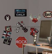 Boys Rock & Roll Wall Decals - RMK1563SCS