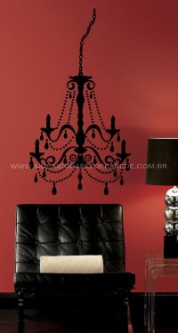 Chandelier Wall Decal - RMK1575GM