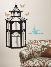 Bird Cage Wall Decal - RMK1346GM