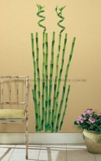 Bamboo Wall Decal - RMK1166GM