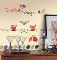 Martini Lounge Wall Decals - RMK1262SCS